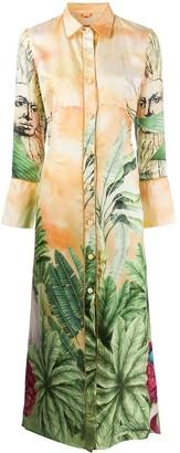 F.R.S For Restless Sleepers Jungle-Print Shirt Dress