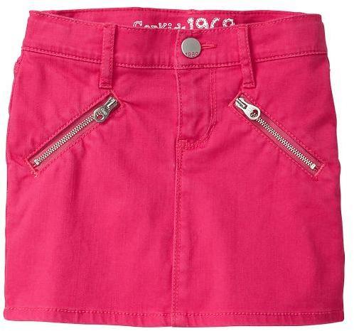 Gap Colored denim mini skirt