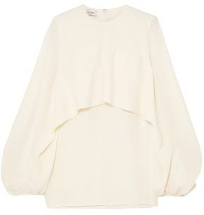 Valentino Cape-effect Silk-crepe Blouse