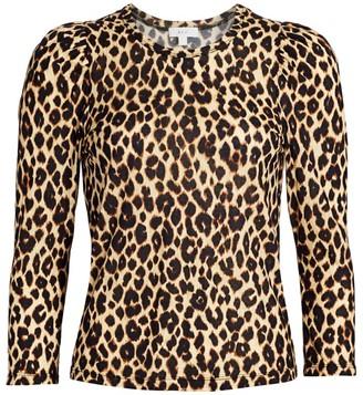 A.L.C. Karlie Leopard Print Top