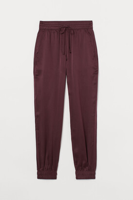 H&M Pull-on silk satin trousers
