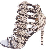 Jason Wu Embossed Cage Sandals