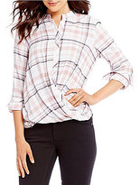 Daniel Cremieux Molly Plaid Blouse