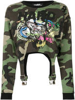 Jeremy Scott camouflage cropped sweatshirt