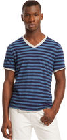 Kenneth Cole Reaction Shirt, Short Sleeve Double Layer Stripe T-Shirt