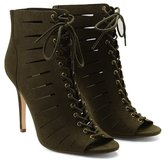 Forever 21 FOREVER 21+ Caged Lace-Up Stilettos