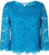 Diane von Furstenberg lace top - women - Cotton/Nylon/Polyester/Rayon - 4