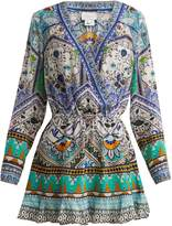Camilla Everlasting Udaipur-print silk dress