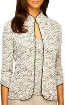 Alex Evenings Branch Print Tank and Jacket Twinset