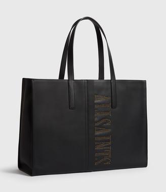AllSaints Nina Stud East West Leather Tote Bag