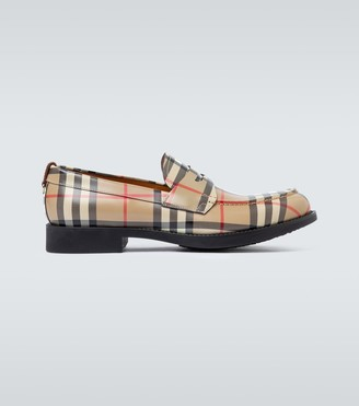Burberry Emile checked loafers