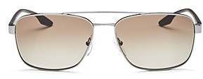 Prada Men's Brow Bar Aviator Sunglasses, 65mm