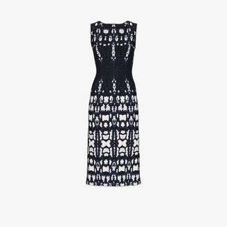 Alaia Printed Sleeveless Midi Dress
