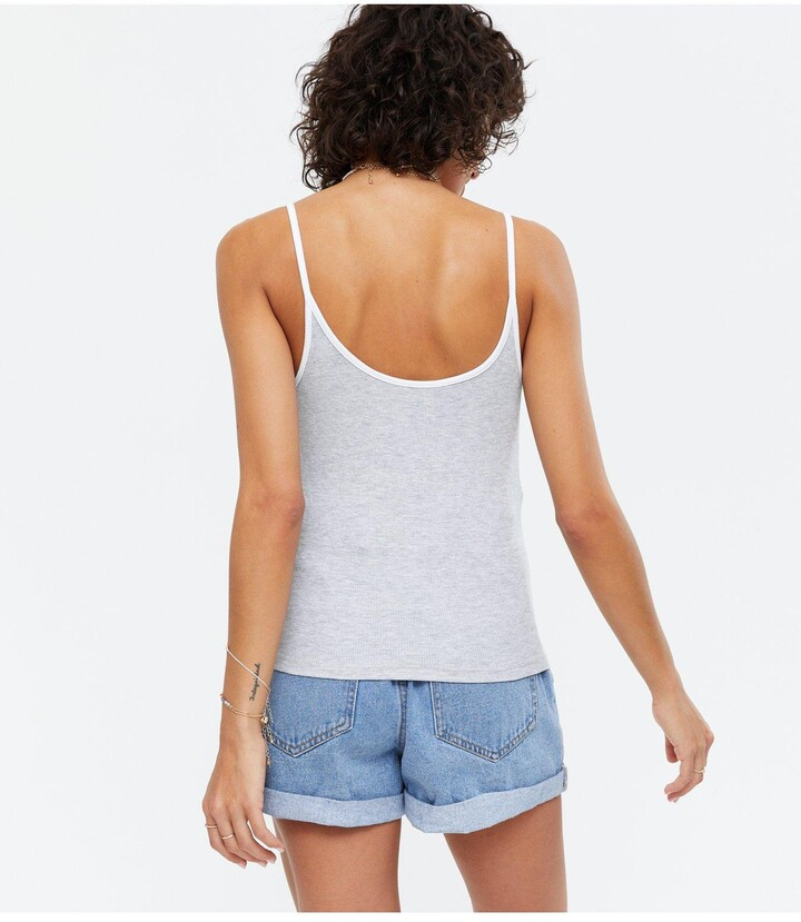 Thumbnail for your product : New Look 3 Pack Ringer Cami - Black/White/Grey