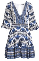 Kas Women's Camille Mixed Print Fit & Flare Dress