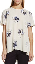 Vince Camuto Floral Print High/Low Hem Top