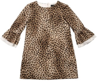 MonnaLisa Leopard Print Techno Dress