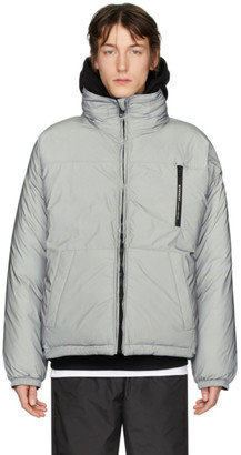 Givenchy Reversible Silver Reflective Puffer Jacket