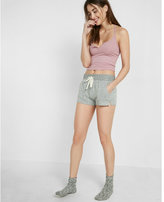Express One Eleven Ribbed Racerback Cropped Cami