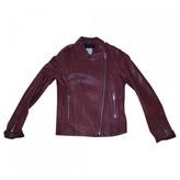 Pablo Burgundy Leather Jacket for Women