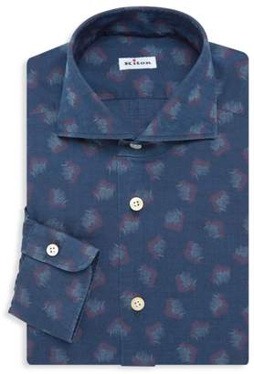 Kiton Contemporary-Fit Paint Brush Print Dress Shirt