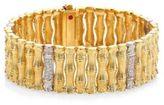 Roberto Coin Bonsai Diamond, 18K Yellow Gold & 18K White Gold Bracelet