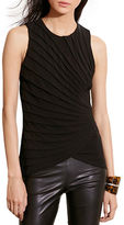 Lauren Ralph Lauren Ethelred Pressed-Pleat Jersey Tank