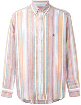 Etro striped shirt - men - Linen/Flax - 40