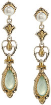 Konstantino Amphitrite Agate & Pearl Dangle Earrings