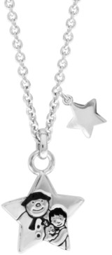 Rhona Sutton Snowman Stars Pendant Necklace