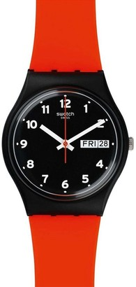 Swatch Red Grin Watch