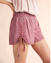 Express braided lace-up shorts
