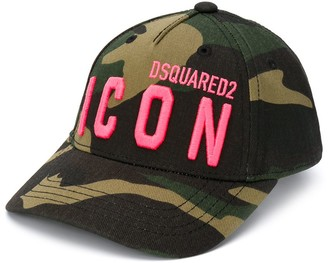 DSQUARED2 Camouflage-Print Logo Cap
