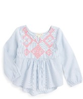 Toddler Girl's Tucker + Tate Embroidered High/low Top