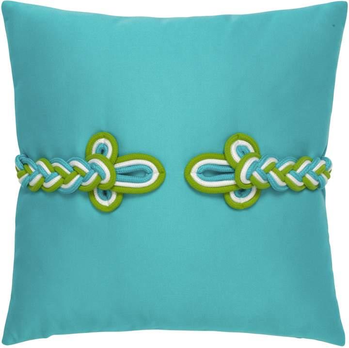 Elaine Smith Aruba Frogs Clasp Indoor/Outdoor Accent Pillow