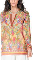 Hale Bob Beaded Silk-Blend Tunic