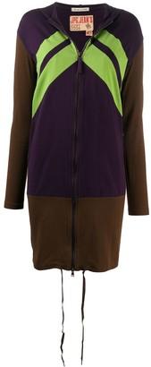 Jean Paul Gaultier Pre Owned 1990s Colourblock Midi Zipped Hoodie