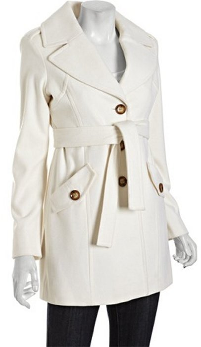 MICHAEL Michael Kors ivory wool-cashmere button front coat