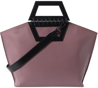 Atribut Leather Shopper Bag - Tempo - Roseate & Black