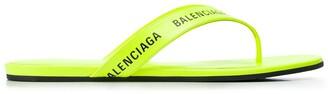Balenciaga Logo-Strap Flip Flops