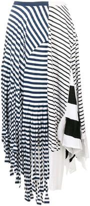 Loewe Asymmetric Stripe Skirt