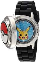 Pokemon Men's Quartz Metal and Silicone Casual Watch, Color:Black (Model: pok9025)
