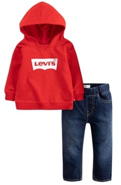 Levi's Baby Boys Hoodie and Jeans Set