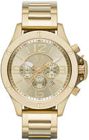 |A|X Armani Exchange Men's Chronograph Gold Ion-Plated Stainless Steel Bracelet Watch 48mm AX1504