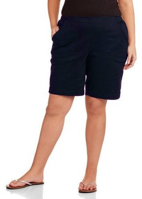 Just My Size Women's Plus-Size 2 Pocket Pull-On Shorts