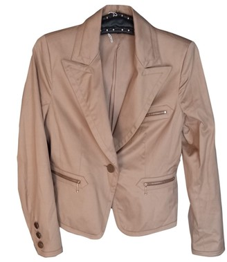 Georges Rech Gold Cotton Jacket for Women Vintage