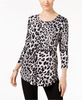 JM Collection Petite Printed Top, Only at Macy's