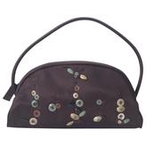 Prada Brown Silk Handbag