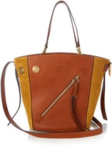 Chloé Meyer medium leather and suede tote