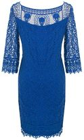 Kaliko Floral Lace Dress, Bright Blue